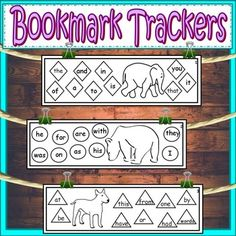 Free. These bookmarks are a perfect way for students to track which sight words they know.
