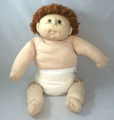 The Original Doll Baby Vintage 1984 M N Thomas Red Brown Hair Boy Diaper Set | eBay