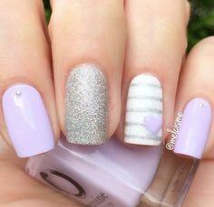 Pastel Purple Nail Polish - Lilac It Short Nail Designs, Cute Nail Designs, Acrylic Nail Designs, Designs For Nails, Beautiful Nail Designs, Purple Nail Polish, Purple Nails, Pastel Purple, Lilac Nails Design