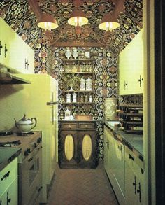 Yikes.  Reminds me of a gypsy caravan but it is a kitchen galley.  Very unusual