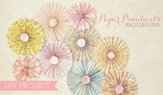 DIY: Paper Pinwheel Wall Decor