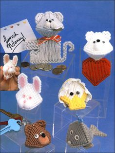 Plastic Canvas - Quick & Easy Patterns - Kissy Kritter's Candy Surprise