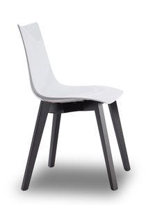 Zebra Natural stoel - Scab - Wit / wengé