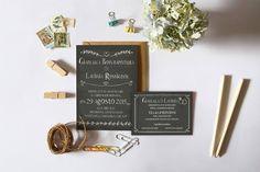 Inviti Ardesia, by Lilak Graphic design.   lilak.it Partecipazione matrimonio lavagna