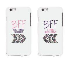 0275e4fc6209d BFF Floral Arrow Cute BFF Matching Phone Cases For Best Friends Gift