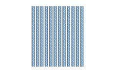 Cannuccia in carta - paper straws conf. 12 pz Star boy party, festa stelle pianeti azzurro, light blue
