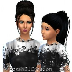 Sims Dentelle: Mom & Daughter • Sims 4 Downloads  Check more at http://sims4downloads.net/sims-dentelle-mom-daughter/