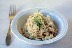 risotto con limón y tomillo