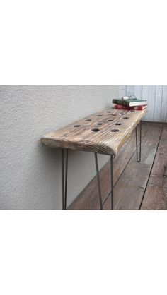 Upcycled table from a bench. (Etsy.com - $299)