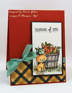 Autumn Basket & Kitty by Diana Gibson - Cards and Paper Crafts at Splitcoaststampers