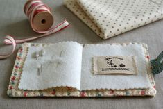 A needle book. Quite useful when one is doing hand sewing out of the home all the time- or loses them like I do.
