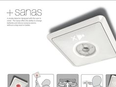 Smoke detector that you just use a broomstick to get off the ceiling (to change batteries and such) Trevis Kurz | Industrial Designers Society of America - IDSA