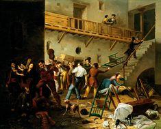 Manuel Cabral Aguado Bejarano. La Reyerta, 1850. Colección Carmen Thyssen-Bornemisza en préstamo gratuito al Museo Carmen Thyssen Málaga