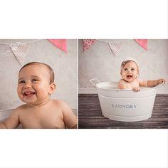 #cakesmash #bathtime #prettyinpink #happybirthday #beautiful #babyphotography #studiophotography #nikond800