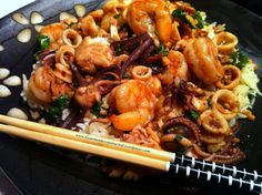 This is a quick and easy stir-fry recipe for seafood. This is the type of meal I usually prepare during the work week when I get home and I am too tired to cook a more complicated meal. I am sure t…