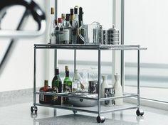 USM HALLER SERVING CART FOR DINING ROOM Carrello bar by USM Modular Furniture design Fritz Haller