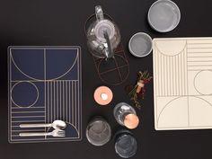 ferm LIVING Dinner Mat: http://www.fermliving.com/webshop/shop/set-the-table-for-new-year/outline-dinner-mat-dark-blue.aspx http://www.fermliving.com/webshop/shop/set-the-table-for-new-year/outline-dinner-mat-off-white.aspx