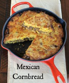 Here's the next recipe in our Publix menu plan for the week starting for some) – Mexican Cornbread. This is one of my husband's favorite meals. It's actually one he grew up eating as this was his mom's recipe. I modified it slightly by seasoning Easy Mexican Cornbread, Chili And Cornbread, Sweet Cornbread, Mexican Cornbread Recipe Ground Beef, Mexican Corn Bread Recipe, Jiffy Cornbread Casserole Recipe, Casserole Recipes, Cornbread Salad, Cornbread Dressing