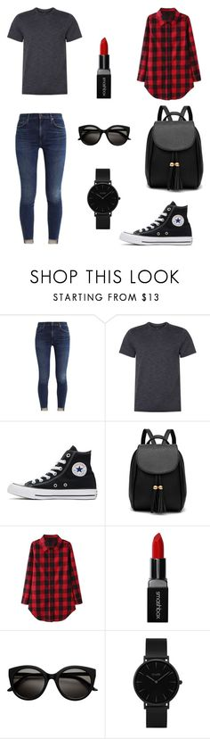 """Girl Tumblr"" by pecturner ❤ liked on Polyvore featuring NIKE, Converse, Smashbox and CLUSE"