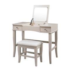 Linon Jackson Vanity Set with Mirror