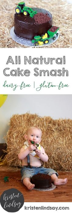 All Natural Smash the Cake Recipe Gluten-free | Dairy-free  Somehow this little boy is about to be four years old in a few months from now! I loved stumbling across these photos and seeing him enjoy his first sweet. I didn't have to cringe because this all natural smash the cake recipe is all natural, made from wholesome ingredients.