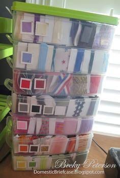 ribbon storage whole blog post about craft organization