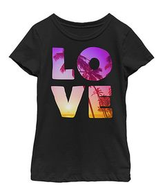 Another great find on #zulily! Black 'Love' Tee - Kid & Tween #zulilyfinds