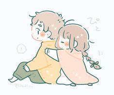 いつきゆう (@itsukiyu) / Twitter Chibi Base Couple, Cute Chibi Couple, Drawing Reference Poses, Cute Wallpapers, Cute Couples, Art Drawings, Anime, Sketches, Kawaii