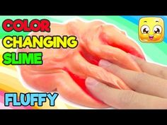How To Make COLOR CHANGING Slime DIY Fluffy Slime No Borax, Liquid Starch, Detergent - YouTube