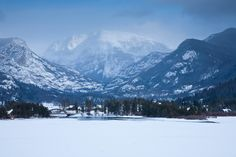 Grand Lake, Colorado ~ #Winter in the #Mountains.  What it looks like now!  No #triathlon, only Polar Bear Swims