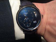 Glashutte Original PanoMatic Lunar - blue - wrist