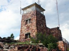 Mount Coolidge Fire Tower - fun short hike in Custer State Park, South Dakota (they say you can see 60 miles on a clear day)! Wildland Fire, Custer State Park, Lookout Tower, Tower House, Mountain Village, Witch House, Homesteads, Crazy Horse, Stone Houses