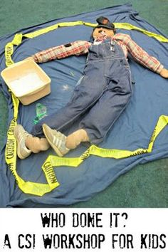 Are your kids interested in forensic science and crime scene investigation. You can build your own CSI workshop for kids at home. Summer Camp Activities, School Age Activities, Science Activities, Science Projects, Activities For Kids, Science Ideas, Educational Activities, Science Experiments, Science Week