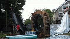 Redneck Waterpark! Ha!  The Waterslide of Doom | 29 Amazing Backyards That Will Blow Your Kids' Minds