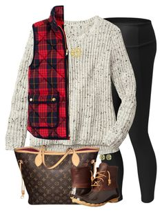 """Christmas is only four days away :)"" by amberfmillard-1 ❤ liked on Polyvore featuring New Balance, Gap, Louis Vuitton, Sperry, J.Crew and Initial Reaction"