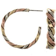 Gold Silver Copper Half Hoop Earrings 26190 | Alltribes