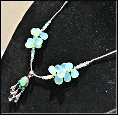 Sterling Silver Chrysoprase, Opal, Green Amethyst Pendant matched with Ethopian Opal and Green Chalcedony Beaded Talisman by TimelessTalismans on Etsy