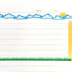 Decorative Border Sunny Day Sticker Art Sheet by NummyBerry