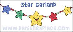 Star Garland Craft from www.daniellesplace.com