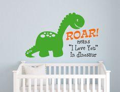 Dinosaur Wall Decal - Dinosaur Roar Childrens Wall Decal - Boys Bedroom Wall Art - Playroom Decor on Etsy, $22.00