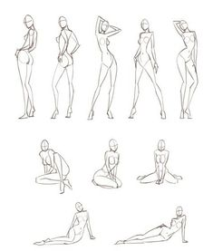 Poses, for fashion illustration