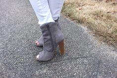Jean shirt outfit Fashion Nova booties - Alejandra Avila
