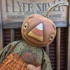 Primitive Cornelia Fall Pumpkin doll Epattern by SweetMeadowsFarm on Etsy
