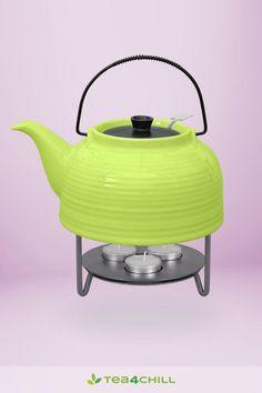 Praktische Teekanne oder Teekanne mit 3 flammigen Stövchen Kettle, Kitchen Appliances, Tea Pots, Cuppa Tea, Stainless Steel, Nice Asses, Diy Kitchen Appliances, Tea Pot, Home Appliances