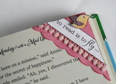 Corner Bookmark! I've made these, they are great! I use them in my textbooks too.