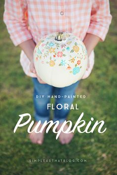 Nothing says Fall like pumpkins, but if pumpkin carving just isn't for you, not to worry! Using faux craft pumpkins as your canvas, create your own hand-painted Fall decor that can be used year after year.
