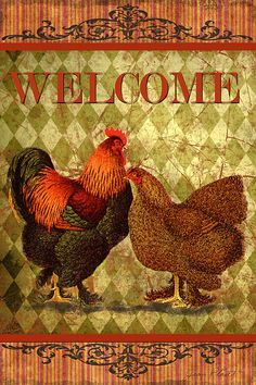 I uploaded new artwork to fineartamerica.com! - 'Welcome Rooster-61412' - http://fineartamerica.com/featured/welcome-rooster-61412-jean-plout.html via @fineartamerica