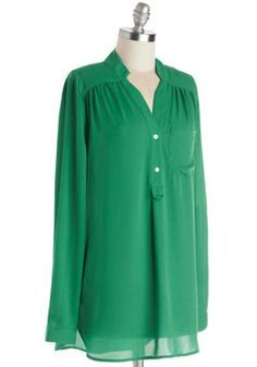 Pam Breeze-ly Tunic in Green, #ModCloth