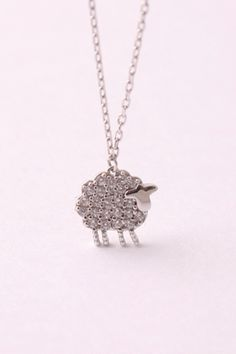 925 Sterling silver Sheep necklace, Ram necklace , Cubic Sheep Jewelry