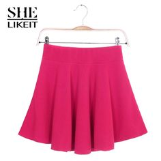 Shelikeit Women's Mini Skirts.(10 colors) http://www.aliexpress.com/store/product/Shelikeit-2015-Cheap-Women-s-A-Line-Mini-Skirt-Summer-Style-Candy-Color-Cotton-School-Short/1479231_32434701159.html